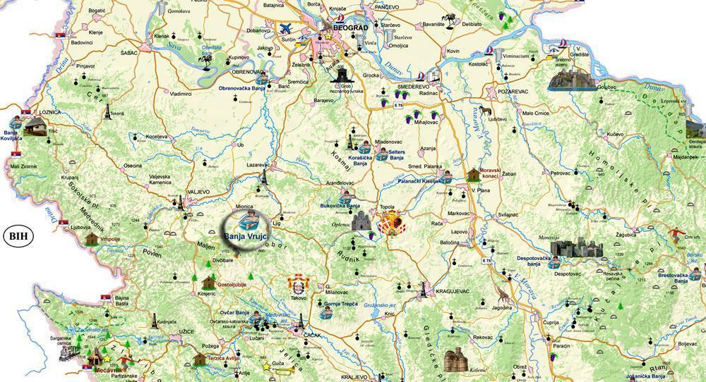 Maps Spa Vrujci Banja Vrujci