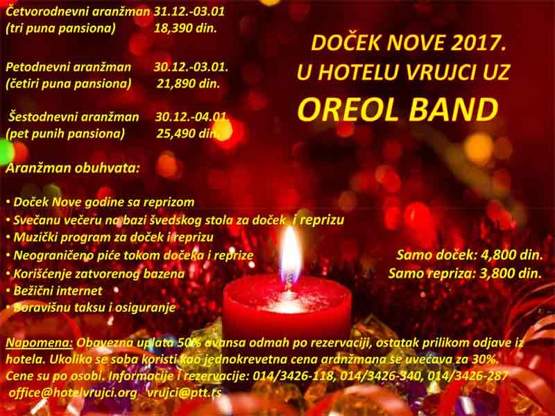 Hotel Vrujci Banja Vrujci docek nove godine 2017