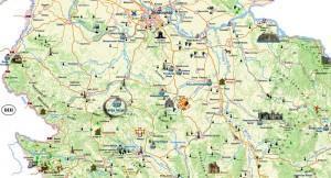 Mapa Banja Vrujci :: na mapi Srbije